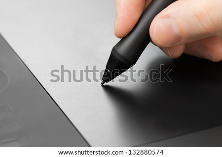 Professional graphic tablet with pen