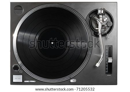 Professional high end turntable for playing music on vinyl disc. This model is the most popular among professional DJ around the World