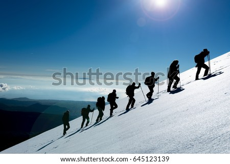 Professional hiking & climbing team