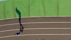professional inline skating training. Top view shadow original design. Sport poster