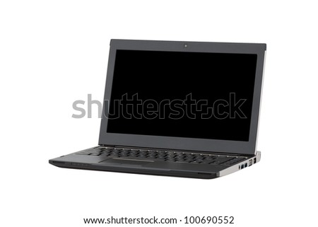 Professional Laptop isolated on white
