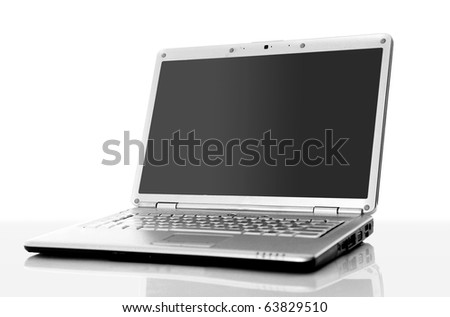 professional Laptop isolated on white background with empty space