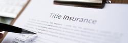 Professional Legal Title Insurance. Application Paperwork In Office