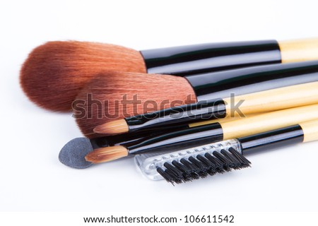 Professional make up and powder brushes