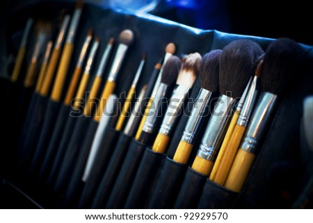 Professional make-up tools - stock photo