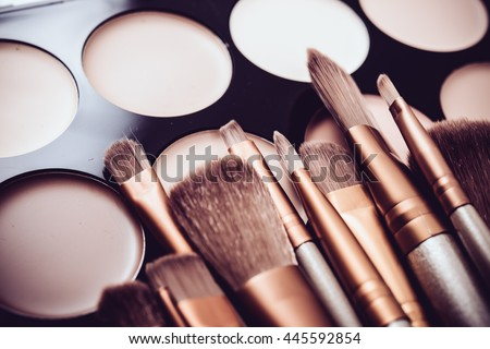 Professional makeup brushes and tools, make-up products set #445592854