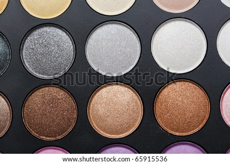 Professional makeup palette; neutral colours