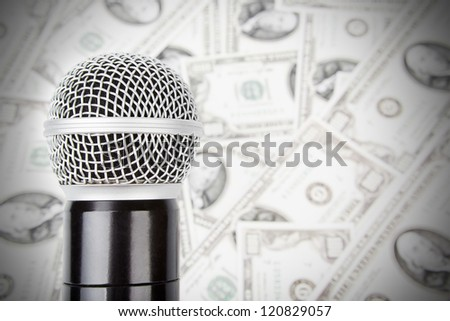 Professional microphone against money