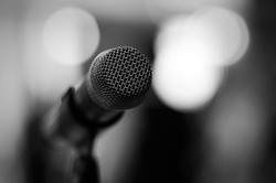 Professional microphone - black and white