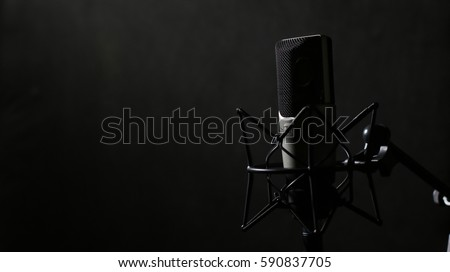 Professional Microphone in Recording Studio #590837705