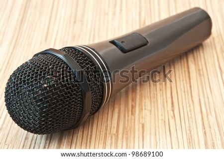 professional microphone on stage background