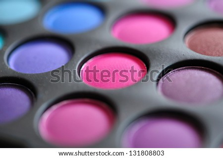 Professional multicolor palette of shadows