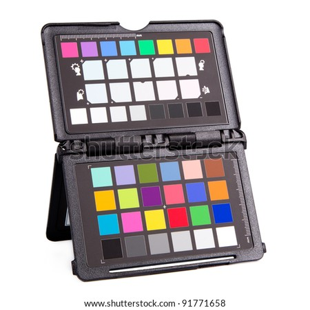 professional photo equipment to adjust color and white balance