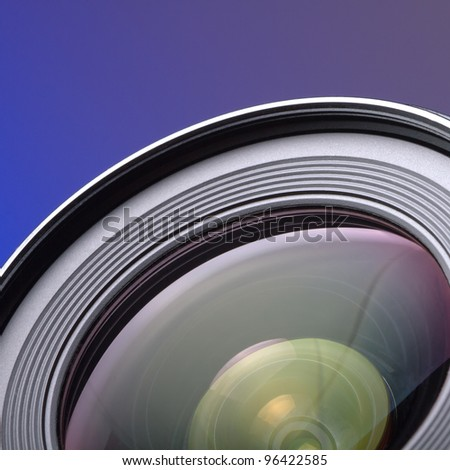 Professional photo lens - Objective with lens reflections
