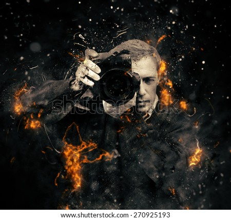 professional photographer with...