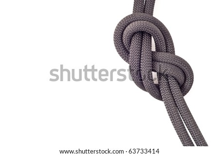 Professional Rock Climbing Knot with Space for Text