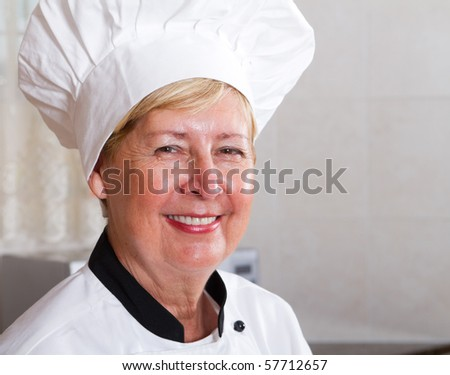 professional senior chef portrati