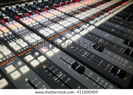 Professional sound equipment,mixer,equalizer,amplifier
