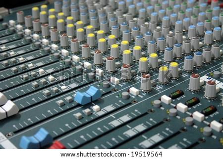 professional sound mixer in the recording studio