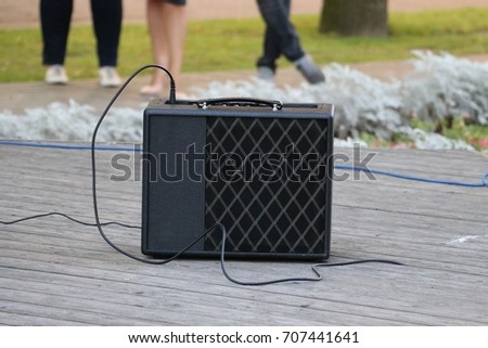 Professional  sound system speaker for musical events on the musical stage
