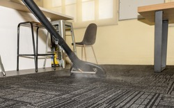 Professional Steam Carpet Cleaning - Hot water extraction carpet cleaning using a wand