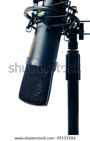 professional studio microphone isolated on white