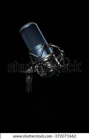 Professional Studio Microphone.  light brush