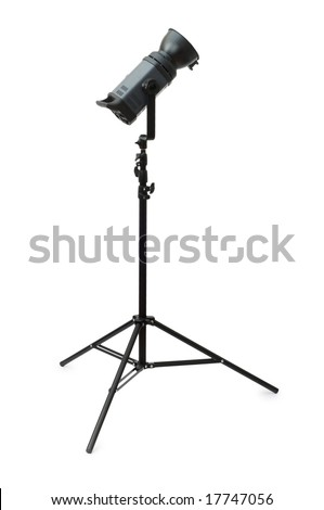 Professional studio strobe isolated on the white