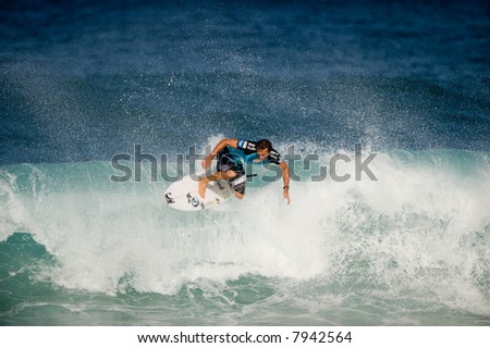 professional surfer in 2007 Pipeline Masters Contest (for editorial use only)