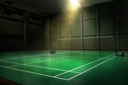 professional tournament badminton court, nobody sport championship competition arena