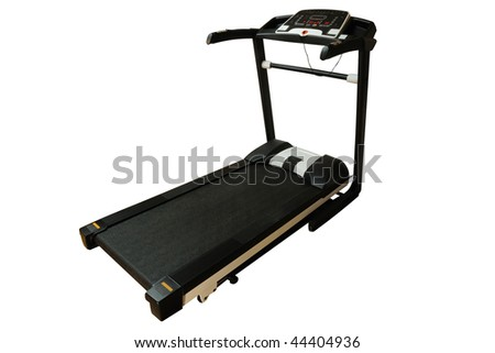 Professional treadmill isolated on white