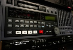 Professional video recorder. Digital Betacam format. Control panel.