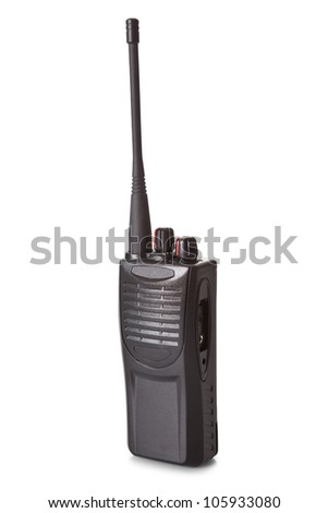 Professional walkie talkie. Isolated on white background