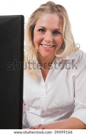 Professional woman at her desk