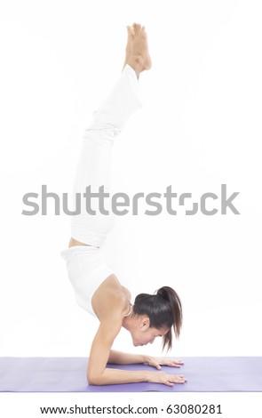 professional yoga trainer in studio
