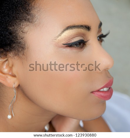 Profile of a Beautiful African American Woman