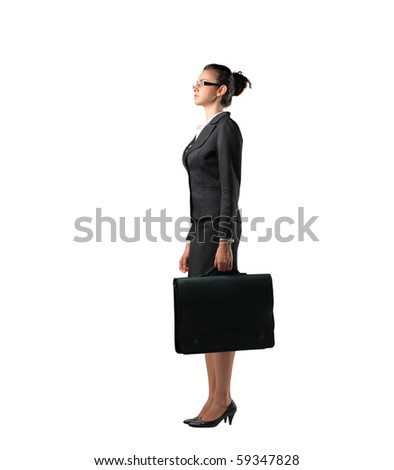 Profile of a businesswoman