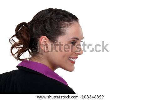 Profile of a young businesswoman
