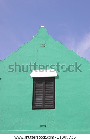 Profile of architecture that is traditional on Bermudian homes.