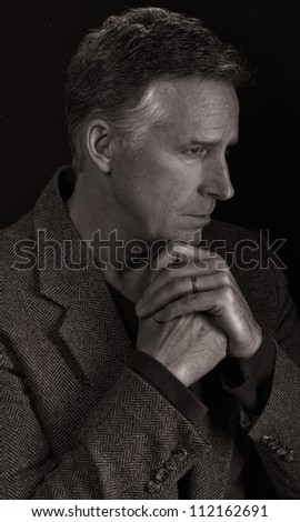 Profile of Attractive Older Man