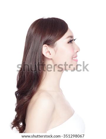 Asian woman side profile