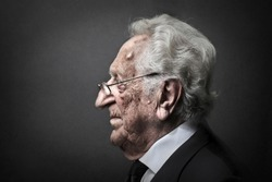 profile of elderly man