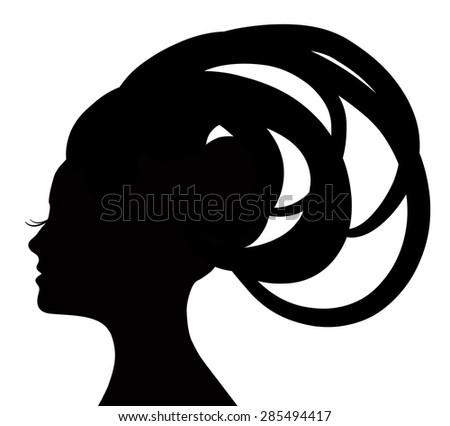 Woman Profile Logo Profile of The Beautiful Girl