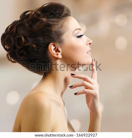 Female profile view