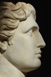 Profile statue of Alexander the great