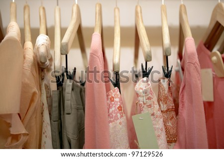 The pink clothing store