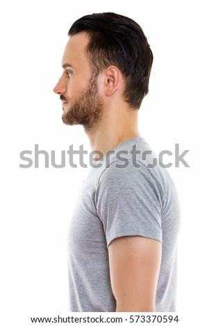 Male profile view