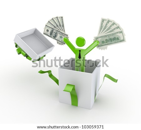 Profit concept.Isolated on white background.3d rendered.