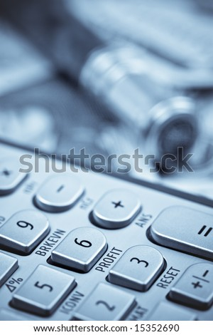 Profit - Financial Calculator Concept