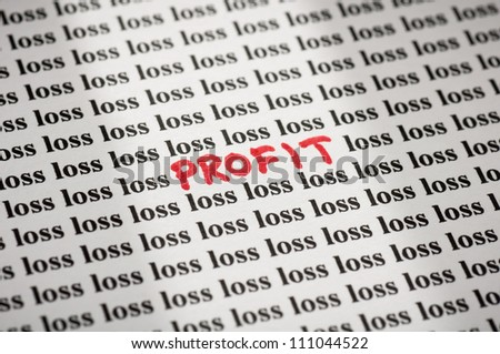 Profit in loss
